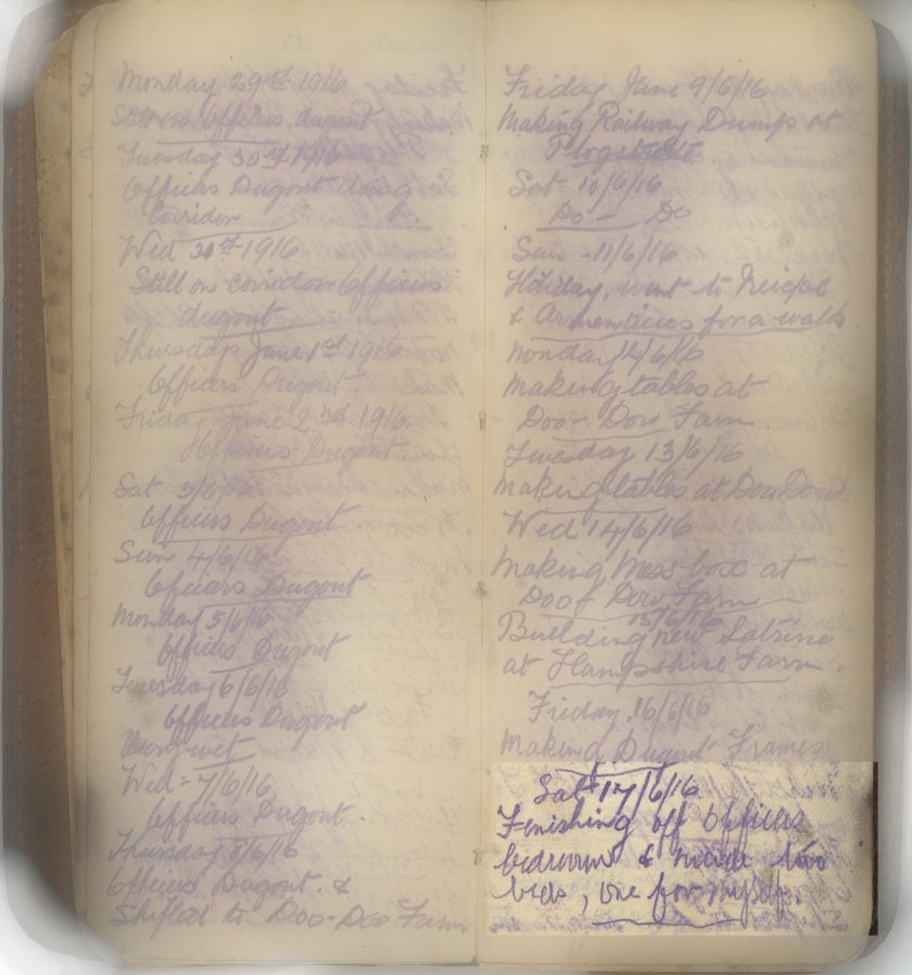 E.L.G War Diary 17/06/1916