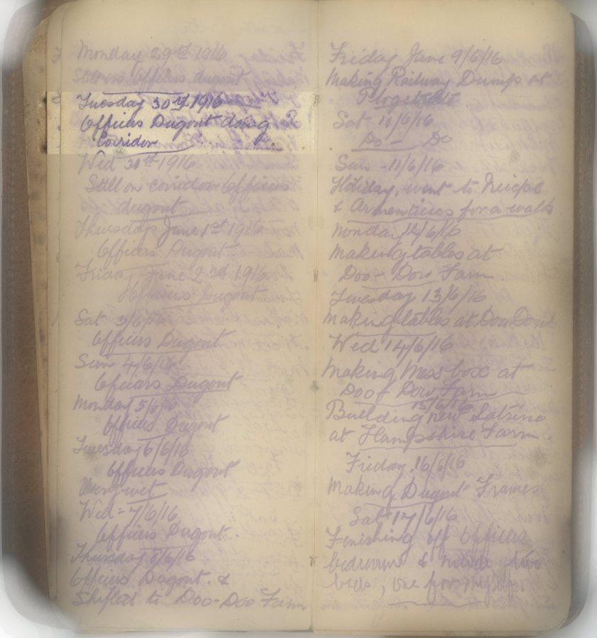 E.L.G. War Diary 30/05/16