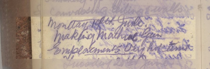 E.L.G. War Diary 19th June 1916