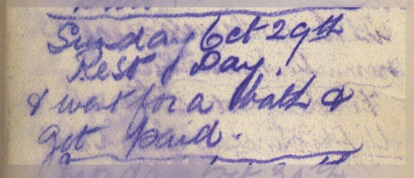 ELG - War Diary - 29-10-1916