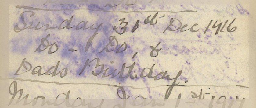 ELG - War Diary - 31-12-1916