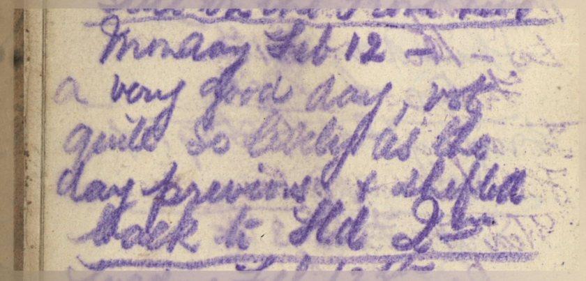 ELG - War Diary - 12-02-1917