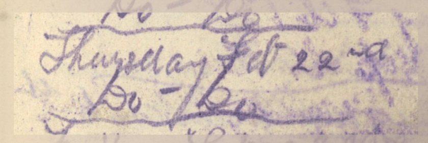 ELG - War Diary - 22-02-1917